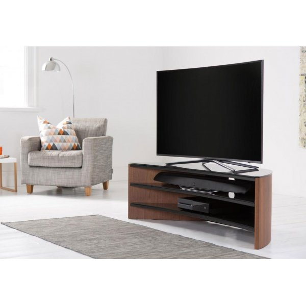 Alphason FW1400C-W Finewoods Curve 1400 Walnut TV Stand
