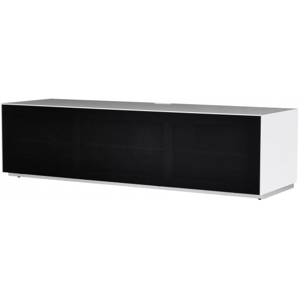 Optimum Project Ortho Series Large TV Stand with Full Audio Fabric - Brilliant White