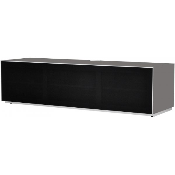 Optimum Project Ortho Series Large TV Stand with Full Audio Fabric - Granite Grey