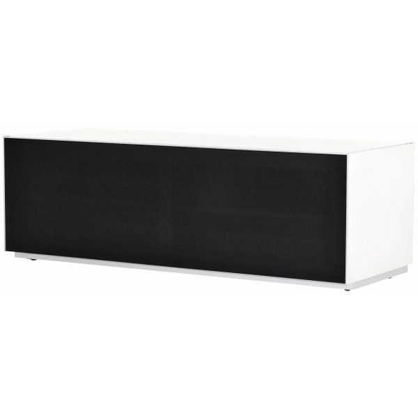 Optimum Project Trig Series Medium TV Stand with Full Audio Fabric - Brilliant White