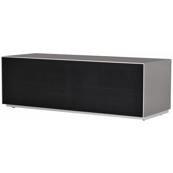 Optimum Project Trig Series Medium TV Stand with Full Audio Fabric - Granite Grey