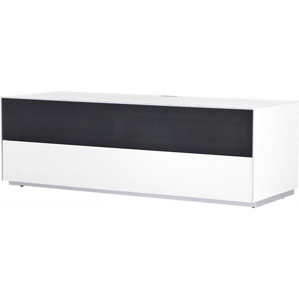 Optimum Project Trig Series Medium TV Stand with Dedicated Soundbar Shelf - Brilliant White