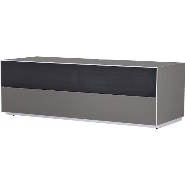Optimum Project Trig Series Medium TV Stand with Dedicated Soundbar Shelf - Granite Grey