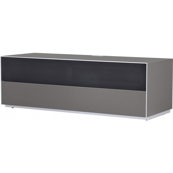 Optimum Project Trig Series Medium TV Stand with Dedicated Soundbar Shelf - Granite Grey