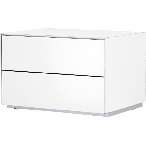 Optimum Project Iso Series Storage Cabinet with Double Drawers - Brilliant White