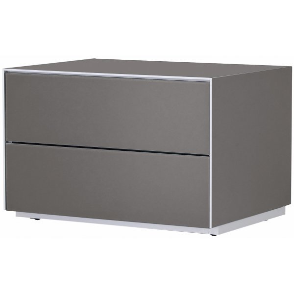 Optimum Project Iso Series Storage Cabinet with Double Drawers - Granite Grey