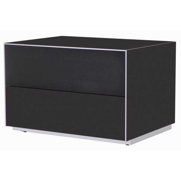 Optimum Project Iso Series Small TV Stand with Audio Fabric Shelf - Gloss Black