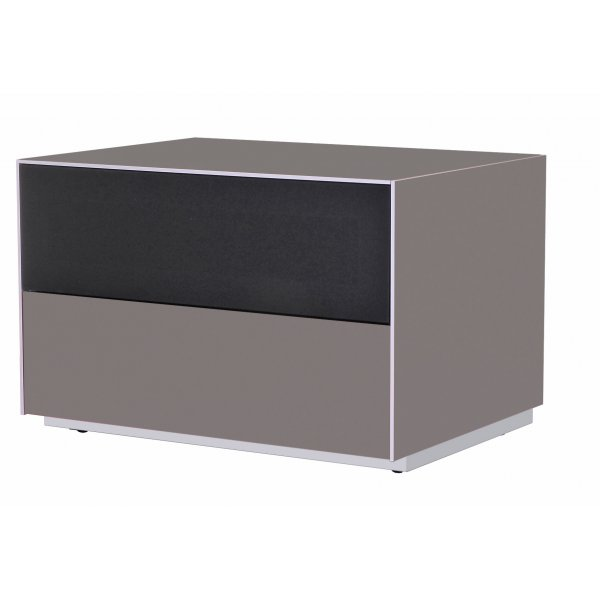 Optimum Project Iso Series Small TV Stand with Audio Fabric Shelf - Granite Grey