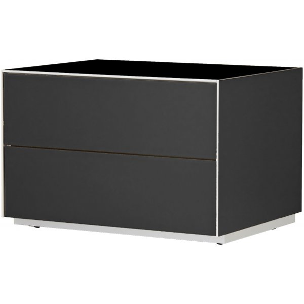 Optimum Project Iso Series Small TV Stand with Double Flip Down Doors - Gloss Black