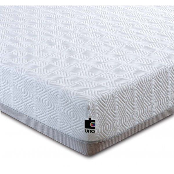 Breasley UNO Pocket 2000 Memory Foam & Pocket Sprung Mattress with Knitted Cover - Double