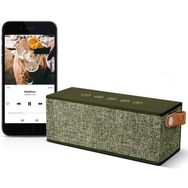 Fresh \'n\' Rebel Rockbox Brick Fabriq Army Green Bluetooth Speaker