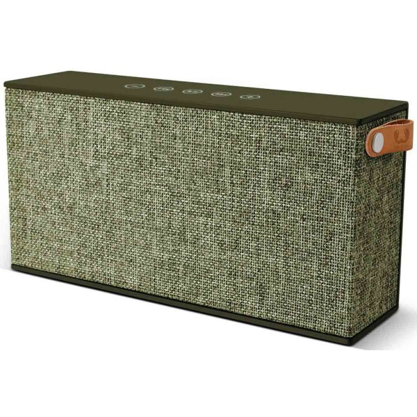 Fresh \'n\' Rebel Rockbox Chunk Fabriq Army Green Bluetooth Speaker