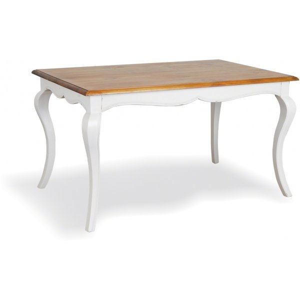 Ultimum Contrast Wooden Dining Table - Antique White