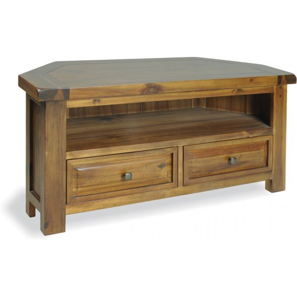 """Ultimum Hazel Wooden TV Unit for up to 47\"""" TVs - Stained Wood"""