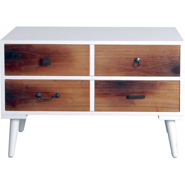 Ultimum Twist Fake 4 Drawer - 2 Drawer Side Table