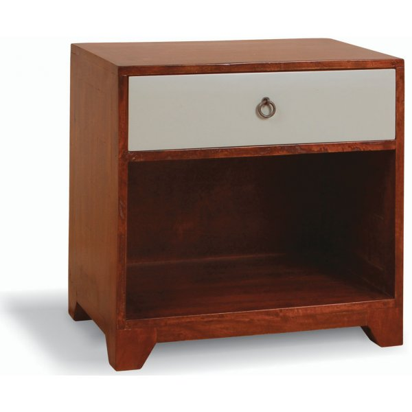 Ultimum Floral Side Table with 1 Drawer and Lower Shelf