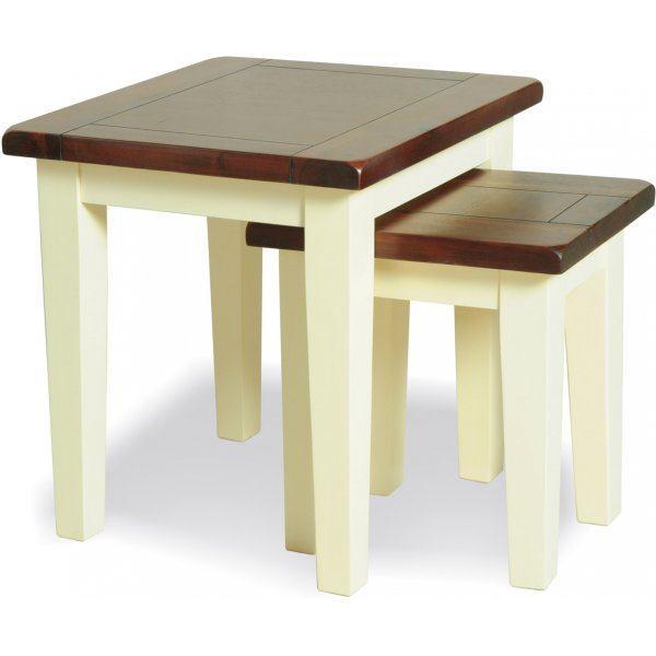 Ultimum Carma Wooden Nest of Tables - Solid Acacia