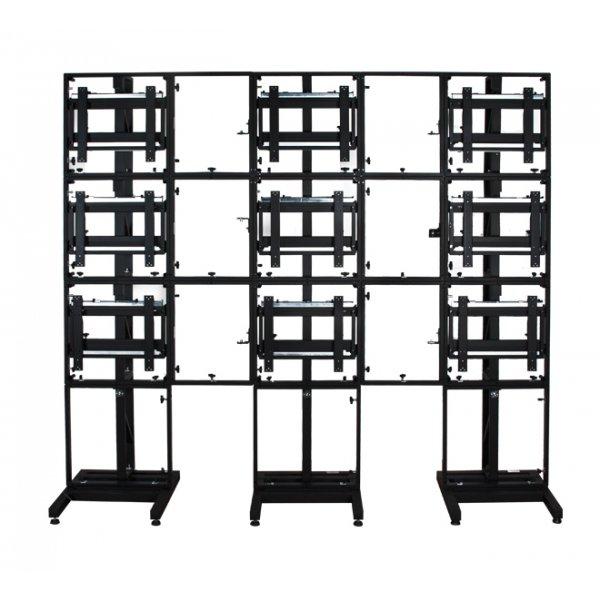 BTech Modular Free Standing Video Wall System - Flat 3x3