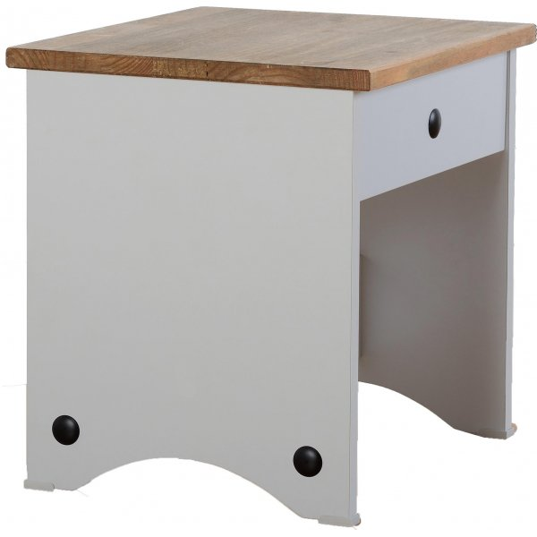ValuFurniture Corona Dressing Table Stool - Grey