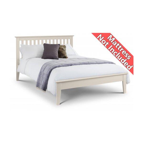Julian Bowen Salerno Shaker Bed Ivory - Double (135cm)