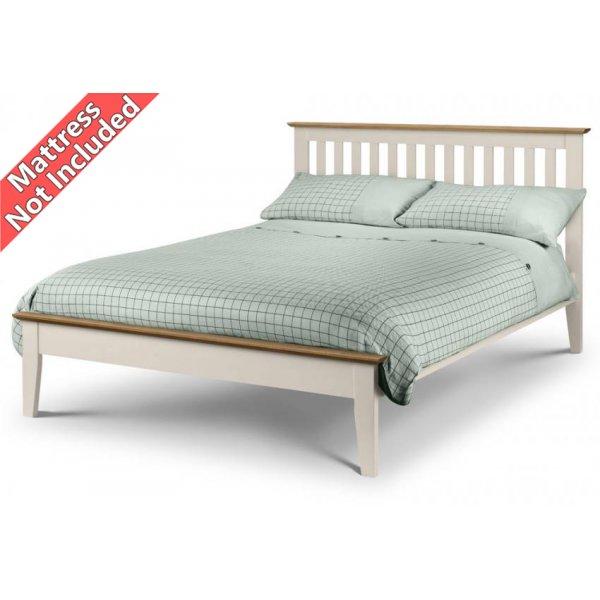 Julian Bowen Salerno Shaker Bed Ivory - King (150cm)