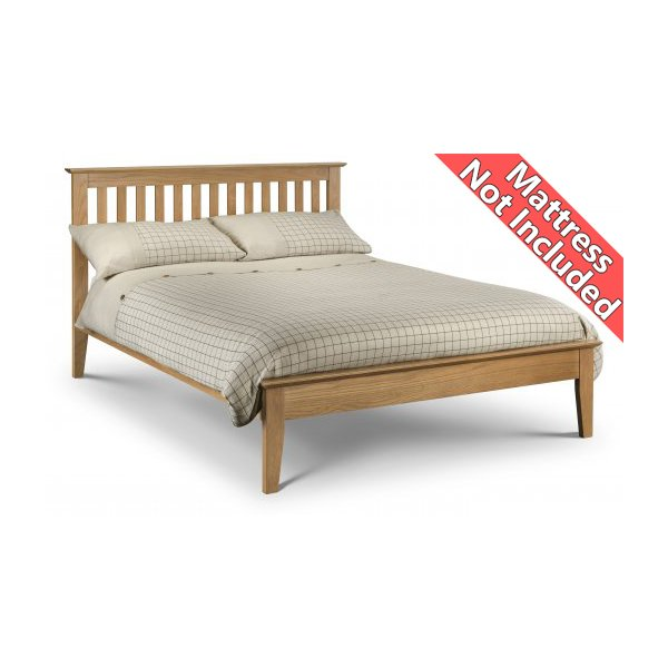 Julian Bowen Salerno Shaker Bed Oak - King (150cm)