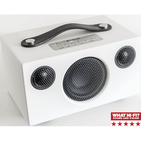 Audio Pro Addon T3 Wireless Bluetooth Stereo Speaker White