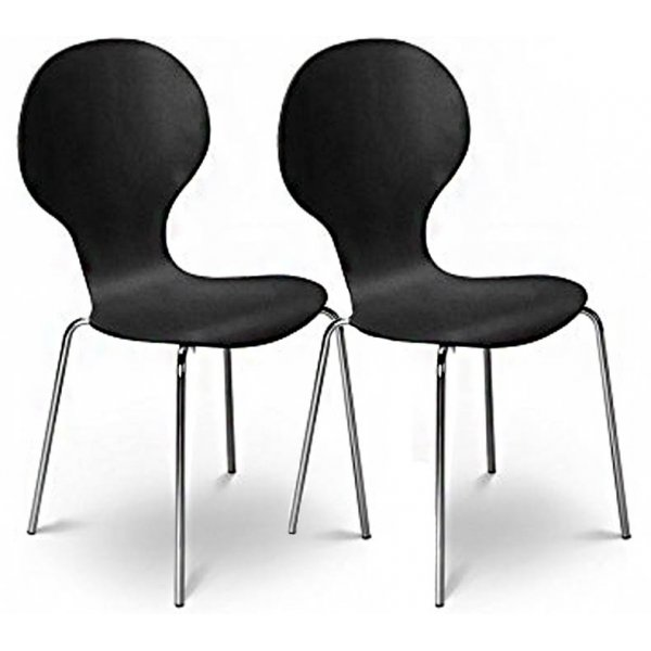 Julian Bowen Set of 4 Keeler Chairs Black