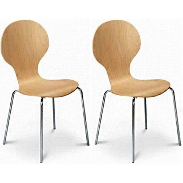 Julian Bowen Set of 4 Keeler Chairs Maple
