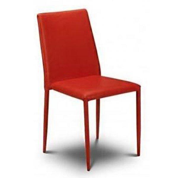 Julian Bowen Set of 4 Red Jazz Stacking Chairs