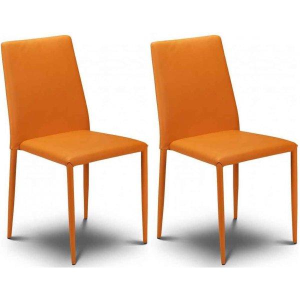 Julian Bowen Set of 4 Orange Jazz Stacking Chairs