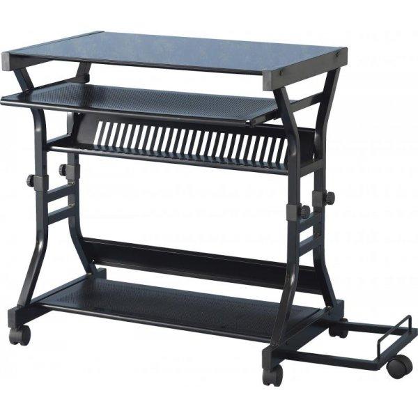 Valufurniture Duke Black Glass Computer Desk