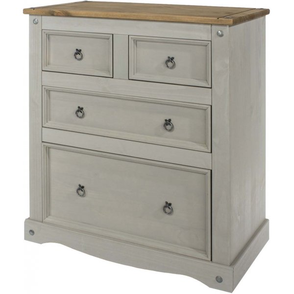 A GRADE Core Products Corona Grey 2 + 2 Drawer Chest