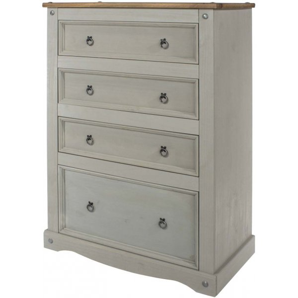Core Products Corona Grey 4 Drawer Chest