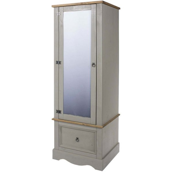 Core Products Corona Grey Armoire with Mirrored Door