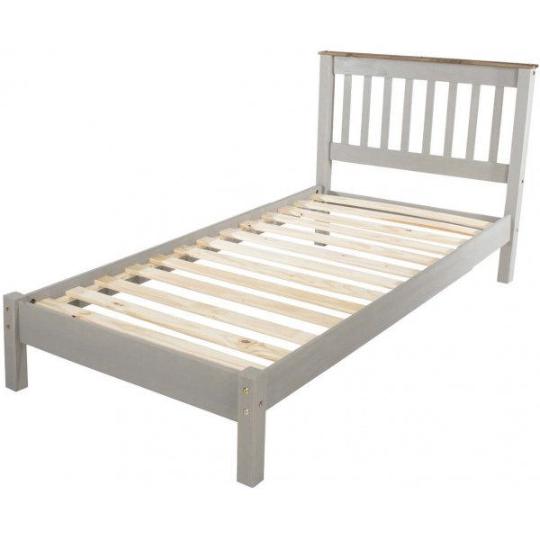 Core Products Corona Grey 3\'0 Slatted Low End Bedstead