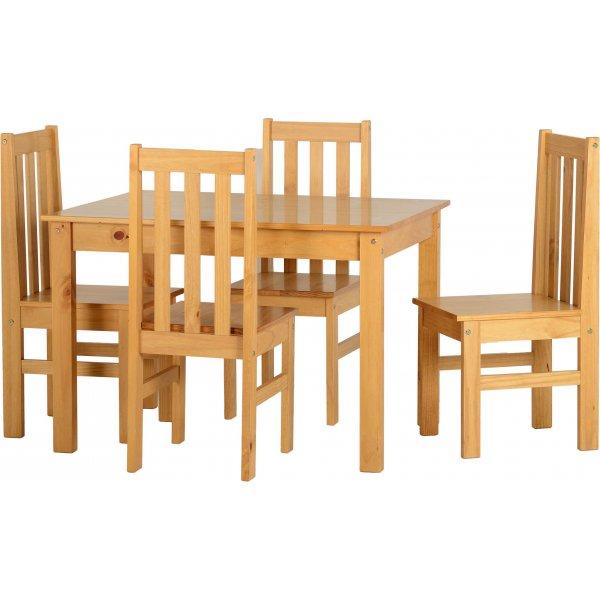 Valufurniture Ludlow 1+4 Dining Set-Oak