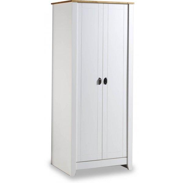 Valufurniture Ludlow 2 Door Wardrobe White/Oak