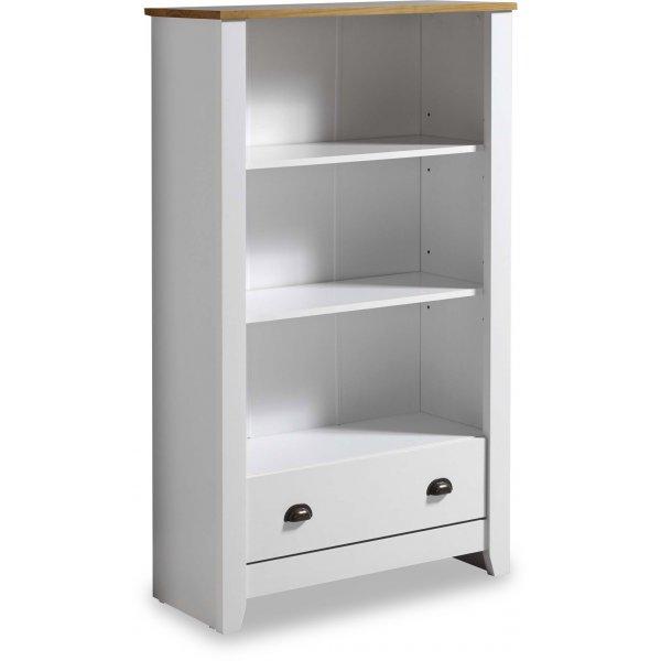 Valufurniture Ludlow Bookcase White/Oak
