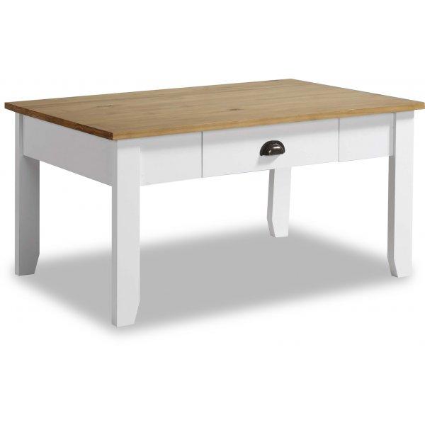Valufurniture Ludlow Coffee Table in White/Oak