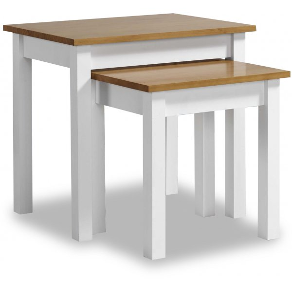 Valufurniture Ludlow Nest Of Tables White/Oak
