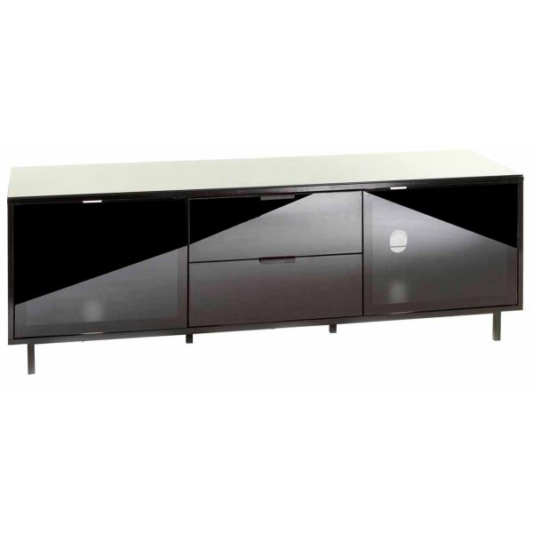 """MMT Stratos Black TV Stand for up to 65\"""" TVs"""