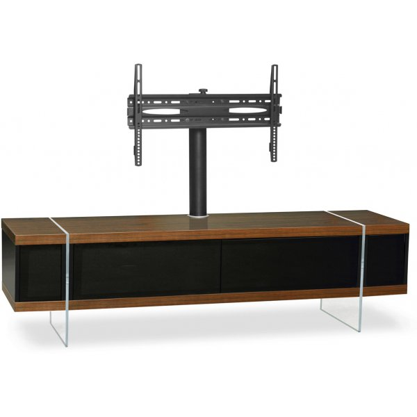 "MDA Designs Space Hybrid Walnut Cabinet with Bracket for up to 60"" TVs"