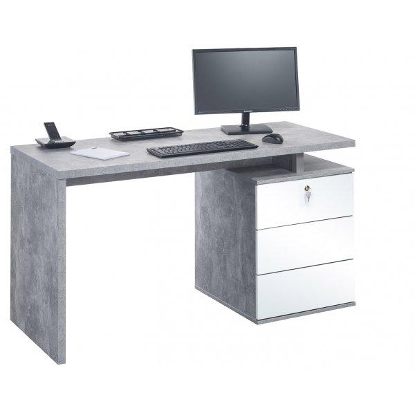 Maja 4056 9156 Victoria Desk Office Desk - Concrete/White