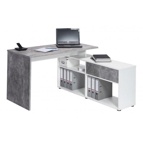 Maja 4019 9139 Clifton Office Desk - Concrete/White