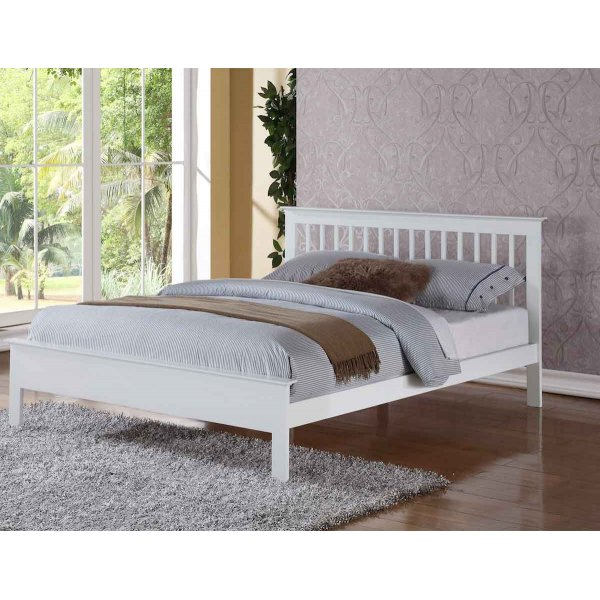 Ultimum Pentre Small Double 4ft Bed White Finish