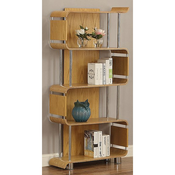 Jual Bali Ash Bookshelf With Chrome Supports