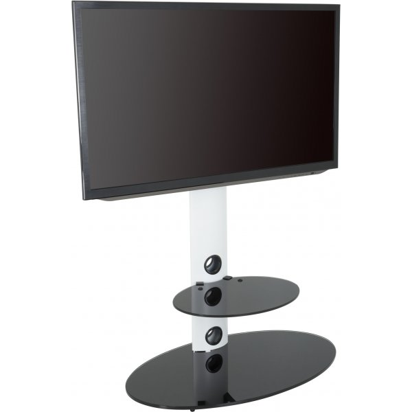 "AVF Lugano Cantilever TV Stand for TVs up to 60"" - White"