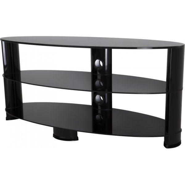 """AVF Oval Glass TV Stand for TVs up to 55\"""" - Black"""