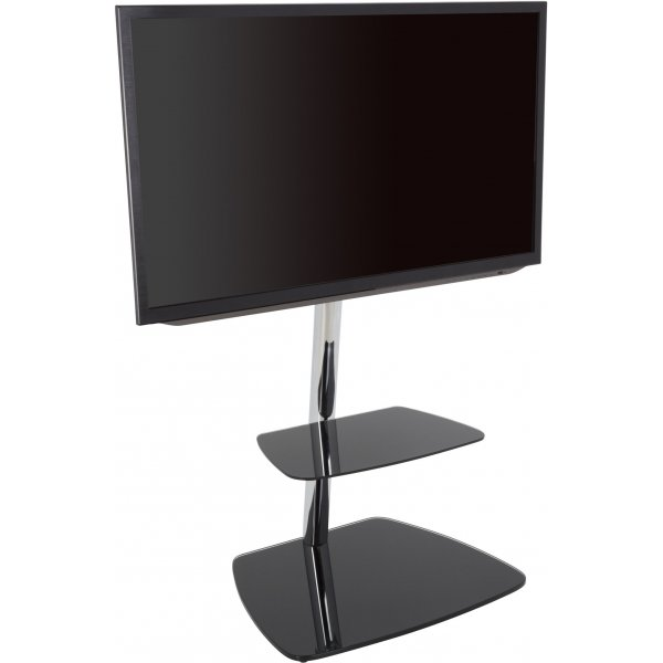 "AVF Iseo Cantilever TV Stand for up to 55"" TVs - Black & Silver"
